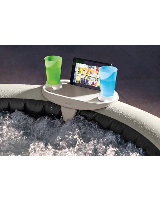 Intex Jakuzzi asztal ledes, pohár és mobil/tablet tartóval.